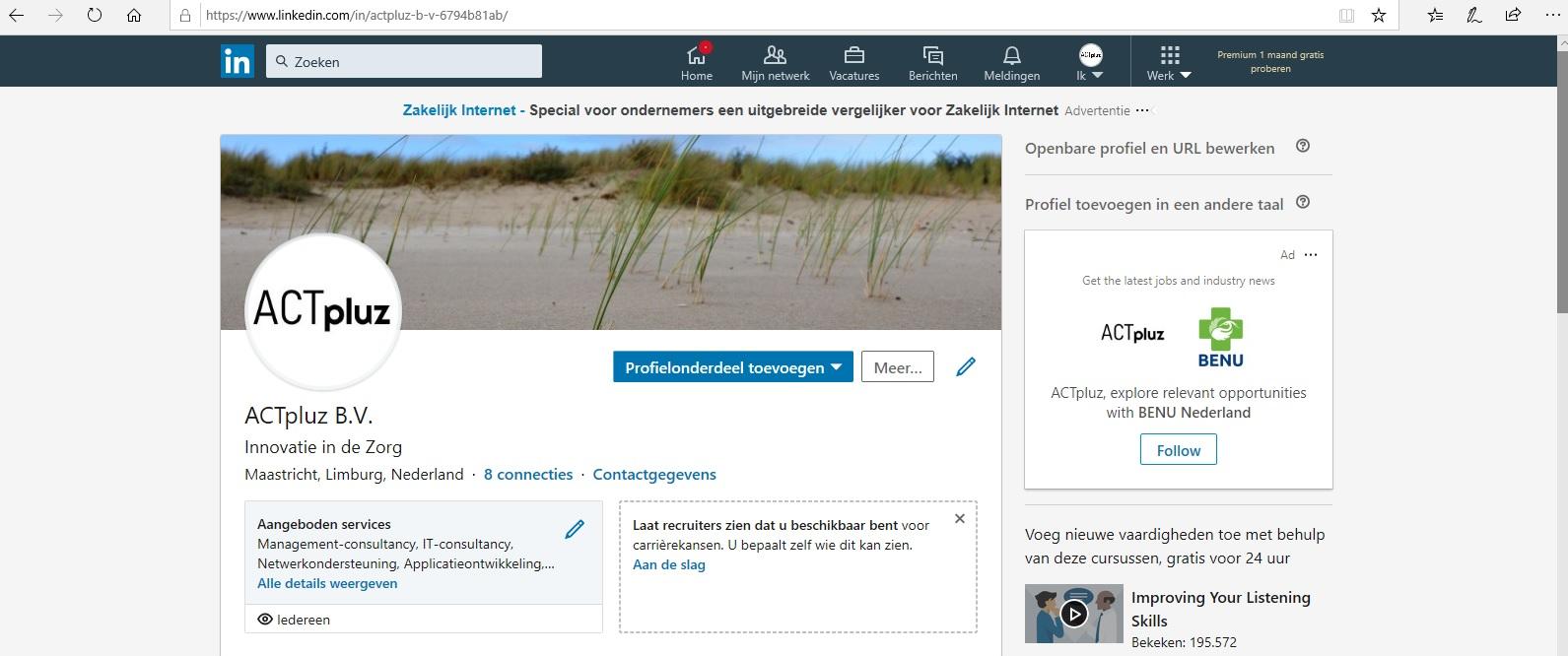 ACTpluz at LinkedIn